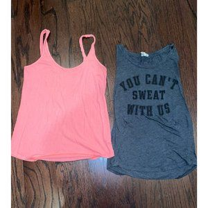 2 Pack VS PINK Active Tank Tops Size S
